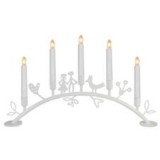 """Kerzenleuchter """"Bogen von Eden"""" weiß"""
