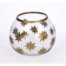 Vase mit Schliff gold