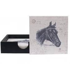 Glasunterlage mit Pferdemotiv
