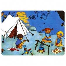 """Tischunterlage """"Pippi beim Zelten"""""""