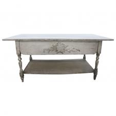 Tisch antik-weiß