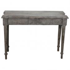 Tisch mit Dekokante antik-weiß