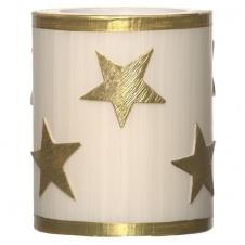 Lampion altweiß gestrichen Sterne gold