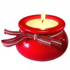 Kerzenhalter Teelicht, rot