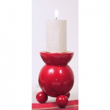Kerzenhalter Stumpfkerze, rot