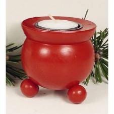 Teelicht-Leuchter, rot