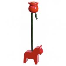Baumkerzenhalter Dalapferd rot