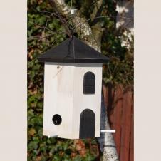 Vogelfutterturm weiß