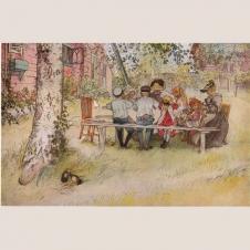 """Poster """"Frühstück unter der großen Birke"""""""