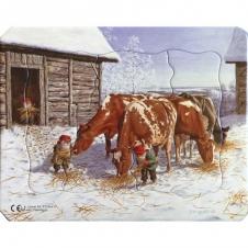 Weihnachtliches Kinderpuzzle