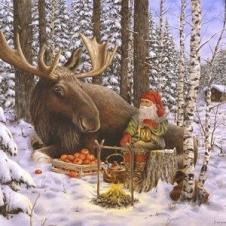 Weihnachtliche Servietten