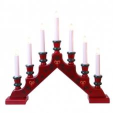 Kerzenleuchter Sara rot
