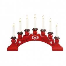 Kerzenleuchter Sanna 7 Lichter rot