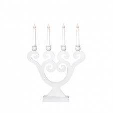 Kerzenleuchter Lyra weiß