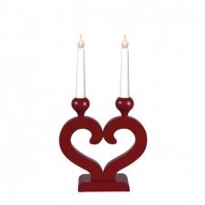 Kerzenleuchter Nusnäs rot klein