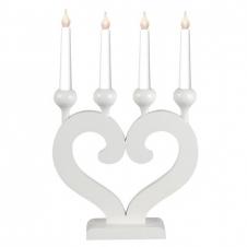 Kerzenleuchter Nusnäs weiß