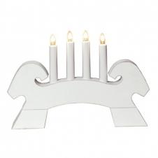 Kerzenhalter Julbock weiß