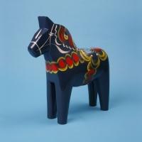Dalapferd blau 20 cm