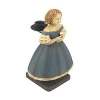 Kerzenhalter Viktorianisches Mädchen mit Tasse