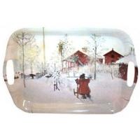 Tablett Carl Larsson Weihnachtsmotiv