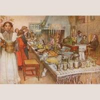 """Poster """"Die Weihnachtstafel in Sundborn"""""""